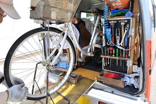 自転車 屋 空気 入れ